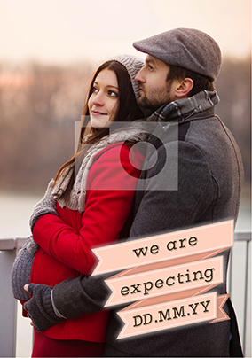 We are Expecting! Photo Upload Card