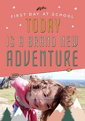 A Brand New Adventure Photo Card