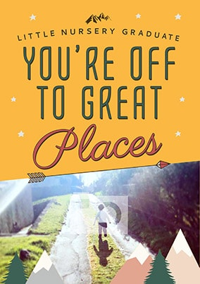You're Off To Great Places Photo Card