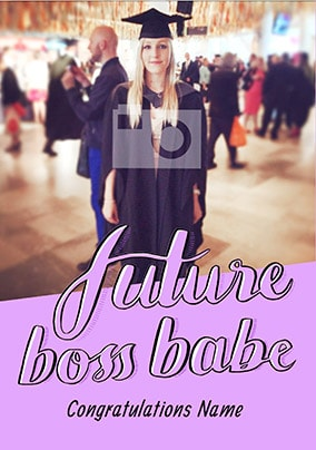 Future Boss Babe Photo Card