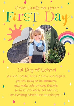 1st Day Of School Photo Card