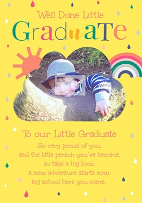 Well Done Little Graduate Photo Card