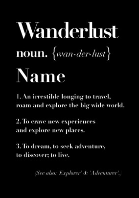 Define Love - Wanderlust