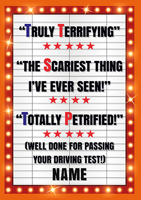 Blockbuster - Well Done for Passing your Driving Test