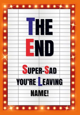 Blockbuster - Leaving Card It's the End