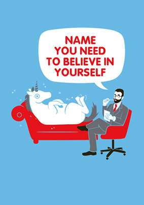 Believe In Yourself Card - Unicorn