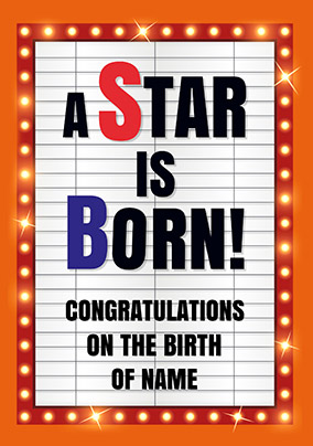 Blockbuster - New Baby Card A Star is Born