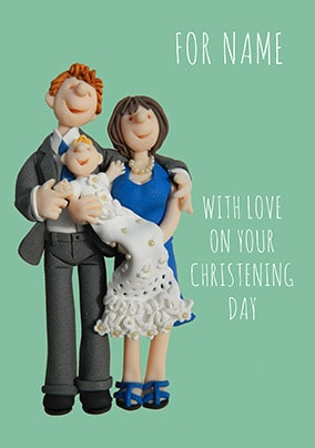 Love On Your Christening Day Personalised Card