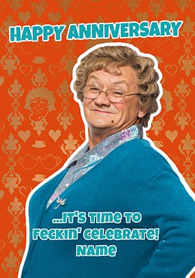 Celebrate Anniversary Mrs Browns Boys Personalised Card