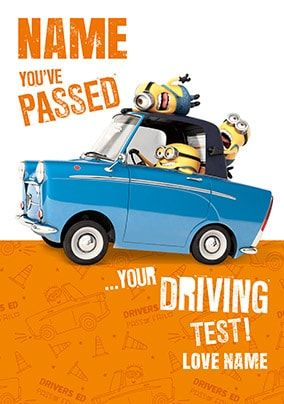 Despicable Me - Passed Your Driving Test Personalised Card
