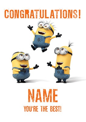 Despicable Me - You're The Best Personalised Card
