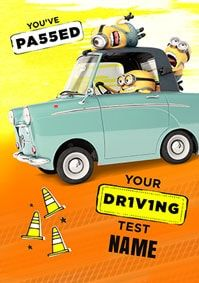 Despicable - Driving Test Pass Personalised Card