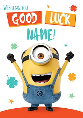 Despicable Me - Good Luck Personalised Card