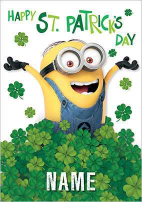 Despicable Me 2 - Minions St Patrick's Day card