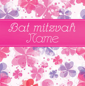 Bat Mitzvah - Pink Flowers