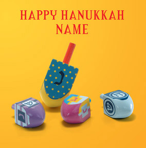 Happy Hanukkah - Dreidels