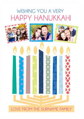 Hanukkah Wishes - Menora Photos