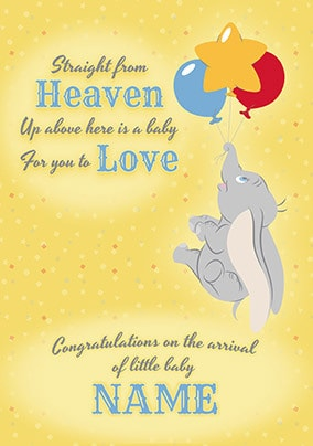 Dumbo New Baby Card