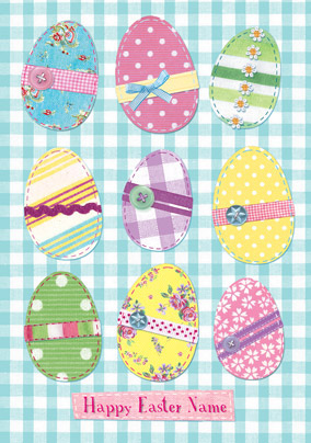 Abacus - Easter Eggs Gingham