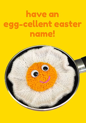 Egg-Cellent Easter Personalised Card