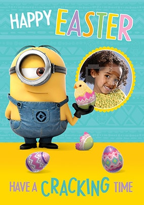 Despicable Me Cracking Easter Photo Card