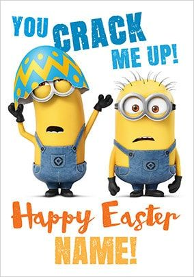 Despicable Me Happy Easter Card