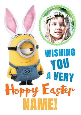 Hoppy Easter Minion Photo Card