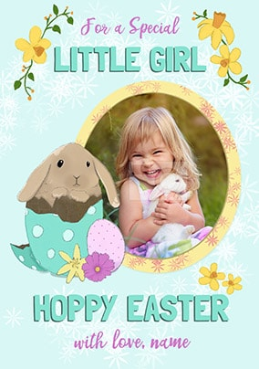 Special Little Girl Easter Photo Card