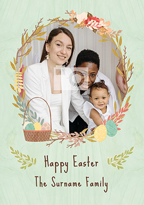 Happy Easter Family Photo Card