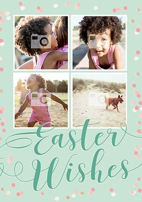 Easter Wishes Multi Photo Card