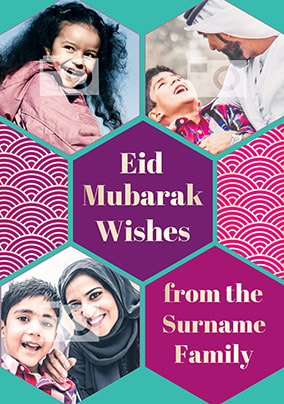 Eid Mubarak Wishes Photo Card