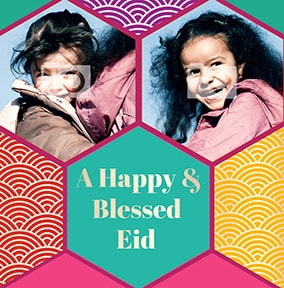 Happy & Blessed Eid Photo Card