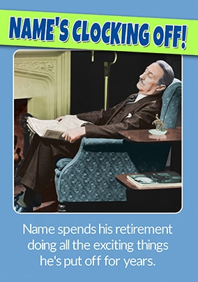 Clocking Off Personalised Retirement Card
