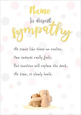 In Deepest Sympathy Personalised Card