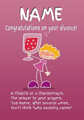 Emotional Rescue - Divorce Card Congratulations!