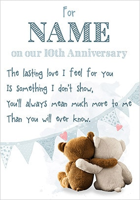 Emotional Rescue - Anniversary Card 10th Anniversary