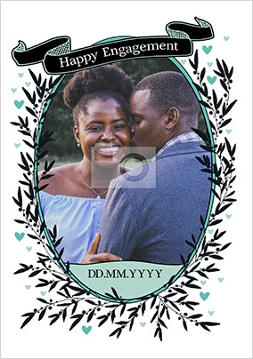 Happy Engagement Photo Card