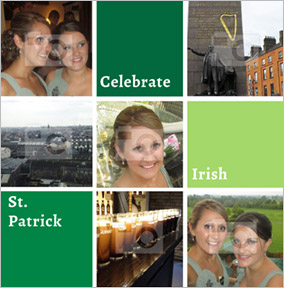 Essentials - St Patrick's Day Card Multi Photo Upload Square