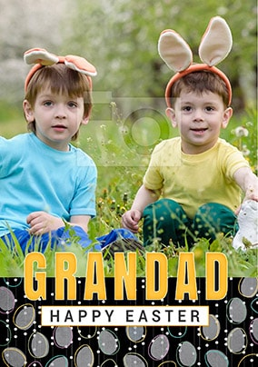 Grandad Happy Easter Photo Card