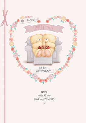 Forever Friends Lovely Wife Anniversary Card