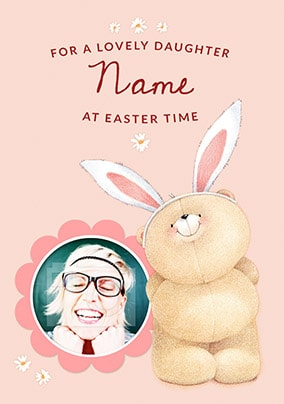 Lovely Daughter At Easter Photo Card