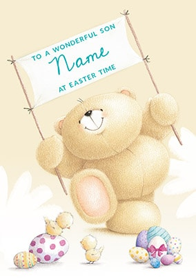 Wonderful Son At Easter Personalised Card