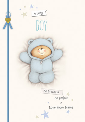 Forever Friends A New Baby Boy Card