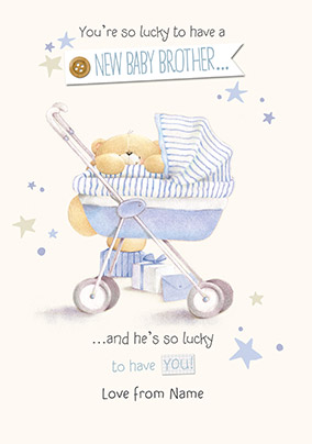 Forever Friends A New Baby Brother Card
