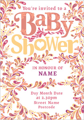 folklore baby shower invitation - Baby Shower Cards