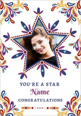 Folklore - Congratulations Card You're a Star Photo Upload
