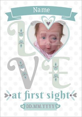 Folklore - New Baby Card Love at First Sight Photo Upload