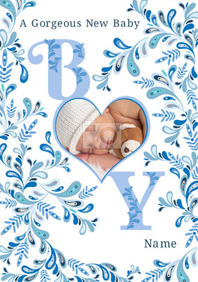 new baby boy cards funky pigeon