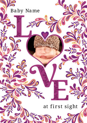 Folklore - New Baby Card Love Photo Upload