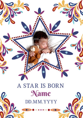 Folklore - New Baby Card A Star is Born